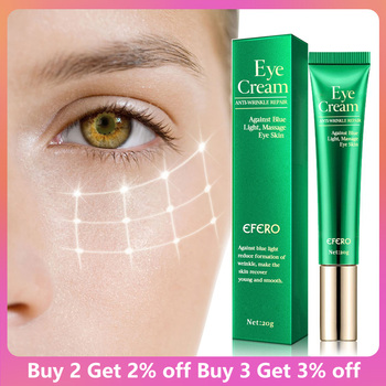 EFERO Eye Cream Peptide Collagen Serum Anti-Wrinkle Anti-Age Remover Dark Circles Eye Care Against Puffiness And Bags Eye Creams недорого