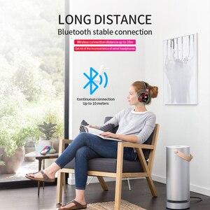 Image 5 - Auriculares inalámbricos Bluetooth V5.0 con luz LED, por encima de la oreja, estéreo 3D, soporte para tarjeta TF, FM, Audio AUX de 3,5mm