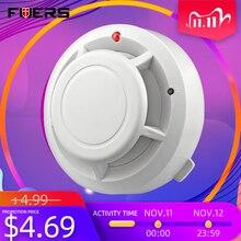 Беспроводной детектор дыма FUERS, автономный детектор дыма для домашней безопасности, пожарное оборудование
