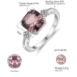 Image 5 - خاتم أنيق مرغنيت بحجر مربع من Gem & Time خاتم فضة استرليني 925 للنساء خاتم عروس ومجوهرات زفاف SR0075