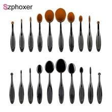 10 Uds cepillo de dientes tipo pinceles de maquillaje Szphoxer portátil cosmética profesional brocha para mezclar bases para la cara herramientas de belleza