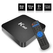 Für TV K92 Android 9.0 TV Box Amlogic S905 X2 2,4G/5G Dual WiFi USB3.0 BT4.2 Unterstützt 4K Media Player TV box r60(China)
