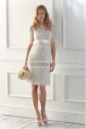 Free Shipping Robe De Soiree Fashion Vestido De Festa Lace Prom Crystal Knee Length Custom Party Mother Of The Bride Dress