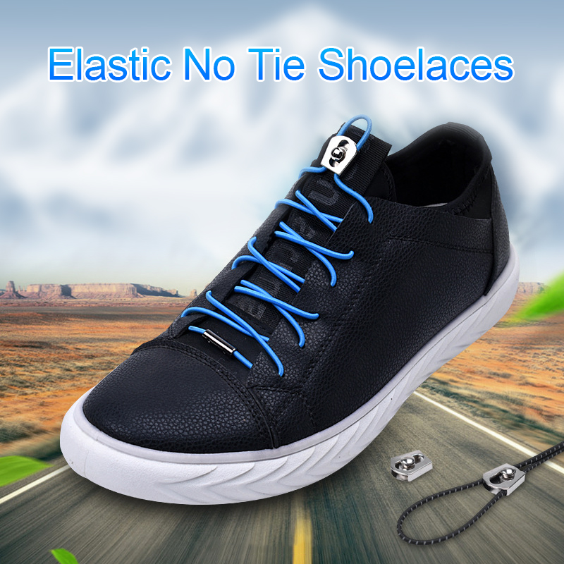 1Pair No Tie Shoelaces Round Elastic Shoe Laces For Kids And Adult Quick Lazy Laces Rubber Sneakers Colourful Shoelace
