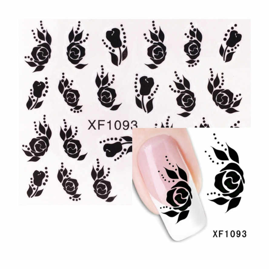 1Pcs Black Rose Flowers Nail Stickers Nail Rhinestone Small Irregular Beads Manicure 3D Nail Art Decoration In Wheel Accessories