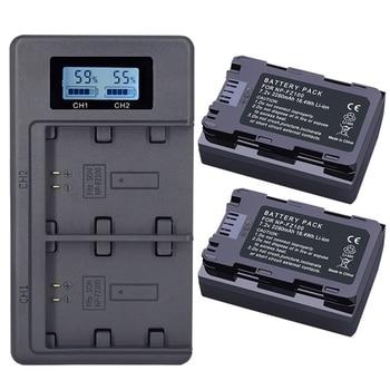 2Pc 2280Mah Np-Fz100 Npfz100 Np Fz100 Battery + Lcd Dual Usb Charger For Sony Np-Fz100, Bc-Qz1, Sony A9, A7R Iii, A7 Iii, Ilce-9