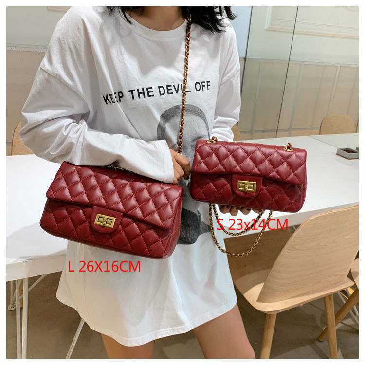 Women Handbag 2019 New Korean Fashion Casual Plaid Chain Shoulder Messenger Bag Famous Classic Brand Designer Crossbody Bag