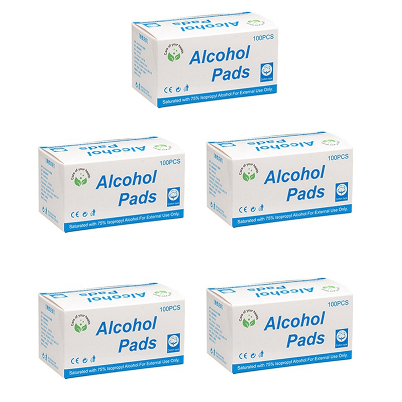 500 Pcs Alcohol Prep Pads Wipes,Alcohol Pads, Alcohol Wipes Smartphone & Portable Devices Cleaning, Alcohol Cotton Pads