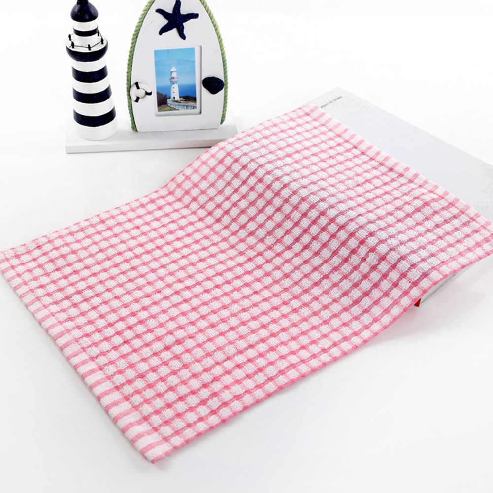 Sıcak yumuşak ekose emici mutfak masa bulaşık bezi pamuk temizleme pamuklu çay havlusu