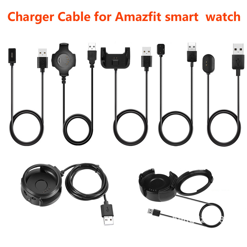 USB Charger Cable For Xiaomi Huami Amazfit Pace Sports Watch/MiDong Health Smart Band/ Stratos 2 2th Pace Watch/ COR2 /Verge