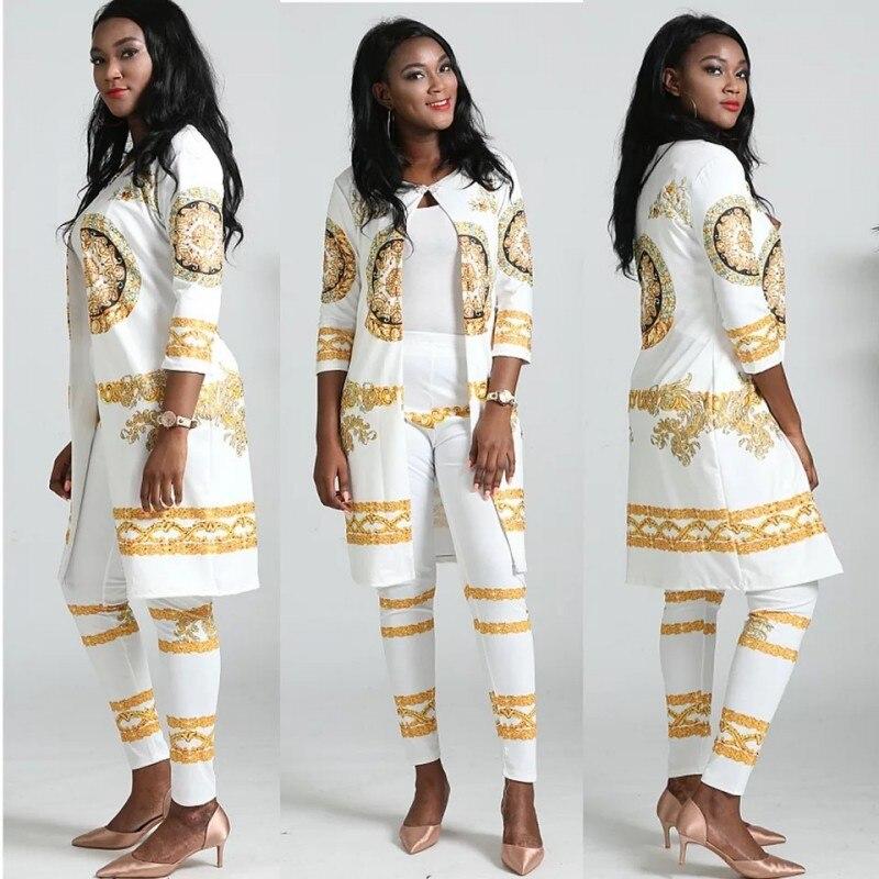 XL 4XL, комплекты из 2 предметов, новинка, Африканский принт, эластичный Базен, мешковатые штаны в стиле рок, Дашики, рукав, известный костюм для леди, 2 шт./партия|Африканская одежда|   | АлиЭкспресс