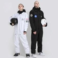 SMN лыжный костюм для пары, зимний теплый костюм для пары, сиамский двойной борд, для взрослых, ветрозащитный, водонепроницаемый, для женщин и мужчин, лыжный комбинезон для прогулок на открытом воздухе