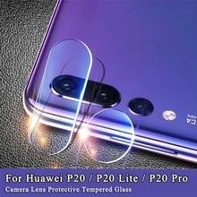 Protector de pantalla de vidrio templado para Huawei P30 20 Mate20 Pro Lite, protección de lente de cámara para Huawei Nova 3 4 P Smart 2019 Glas