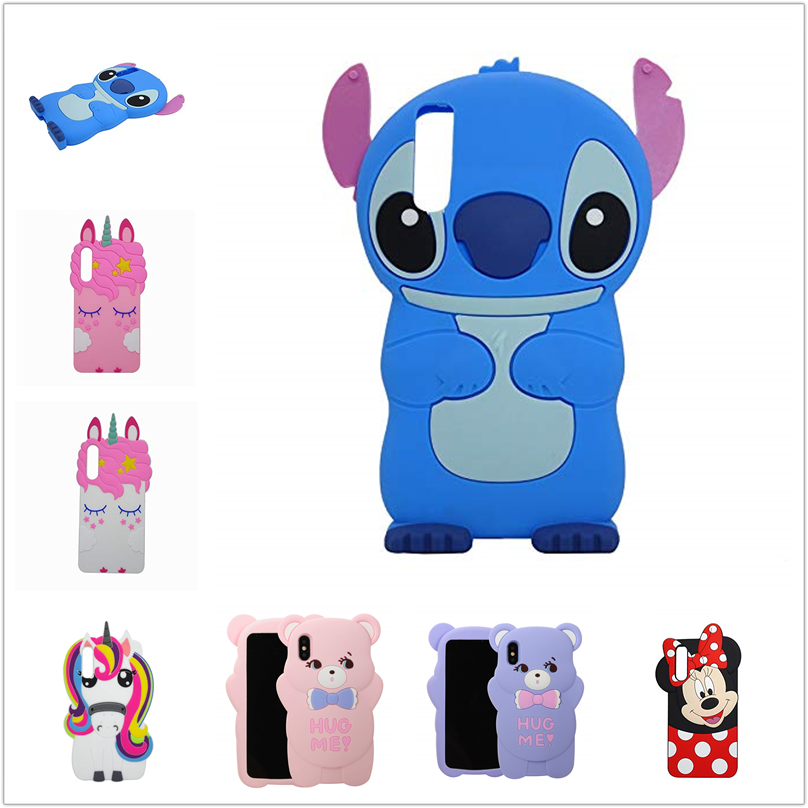 For <font><b>Samsung</b></font> <font><b>A10</b></font> A20 A30 A50 A70 Case Stitch Unicorn Bear Silicone Phone <font><b>Cover</b></font> Cases For iPhone 6 7 8 Plus 11 Pro Xs Max image