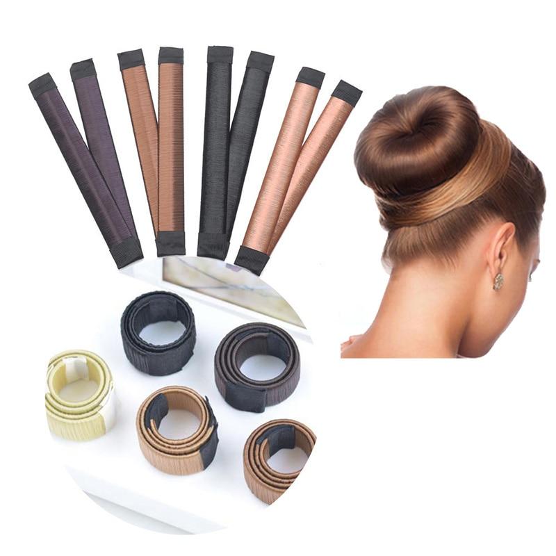 Новинка 2021, повязка на голову с париком, пончиком, женские аксессуары для волос, волшебная заколка для девочек, инструменты для пучка волос, ...