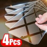 4 pezzi di vetro temperato a copertura totale per Xiaomi Mi 9 10 protezione dello schermo per Xiaomi Mi 9 9T 8 Lite A3 A2 A1 Pocophone F1 MAX 3 2 vetro