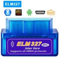 Varredor diagnóstico do carro obd 2 elm 327 bluetooth v2.1 para o protocolo obdii do apoio de symbian ppc do torque de android