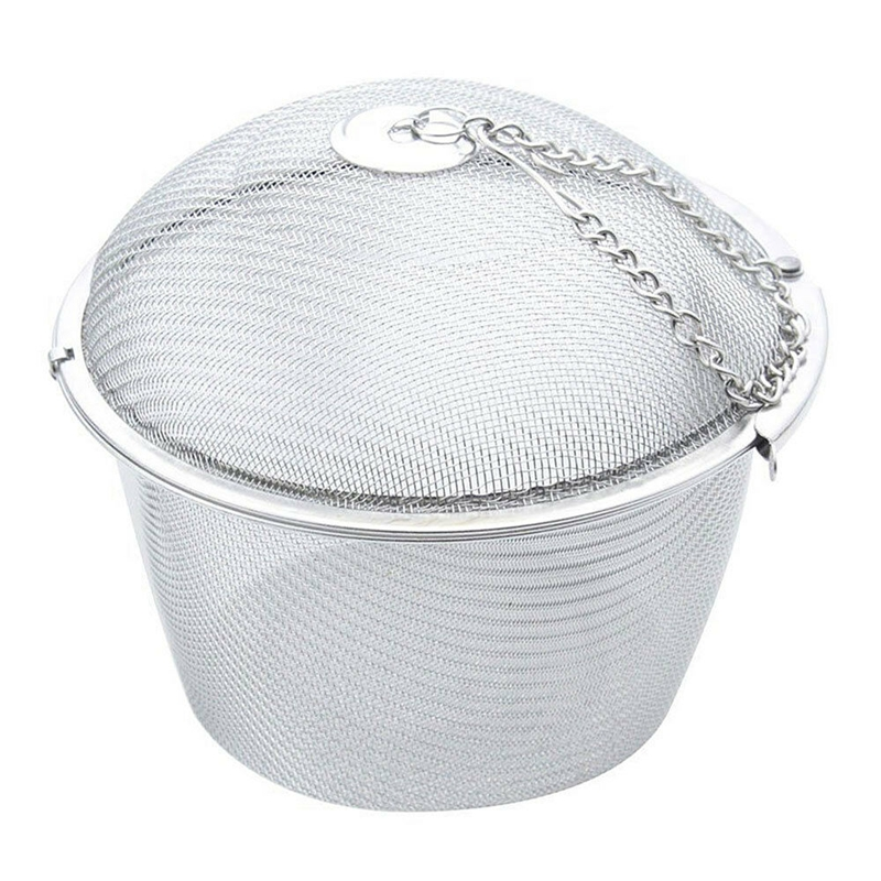 Practical Tea Ball Spice Strainer Mesh Infuser Filter Stainless Steel Herbal  HY