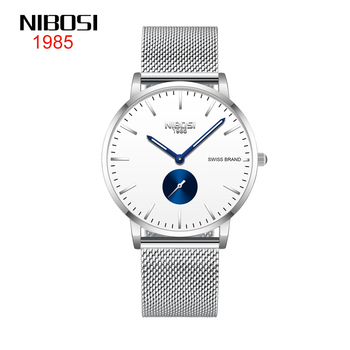 NIBOSI Fashion Men Watch ultra thin mesh belt watches mens sport quartz clock dress casual simple wristwatches Relogio Masculino dom men watches top brand luxury quartz watch casual quartz watch black leather mesh strap ultra thin fashion clock male relojes