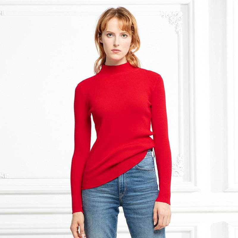 Marwin New-coming autunno inverno top dolcevita pullover maglioni camicia Primer manica lunga corta coreana maglione aderente aderente 2