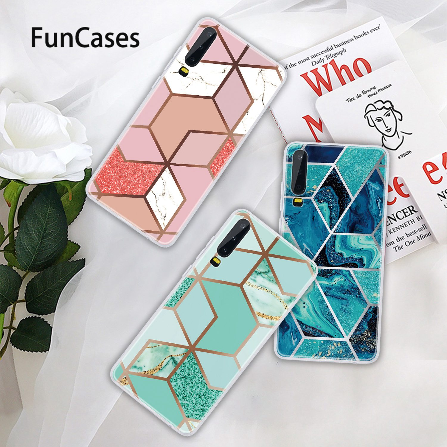 Cases For coque <font><b>Huawei</b></font> P20 Pro <font><b>Huawei</b></font> Enjoy 8E Soft TPU Cover <font><b>Y6</b></font> 2018 P30 Ascend P20 Plus Y5 Y9 Prime Case <font><b>2019</b></font> Lite Y7 Pro 8 9S image