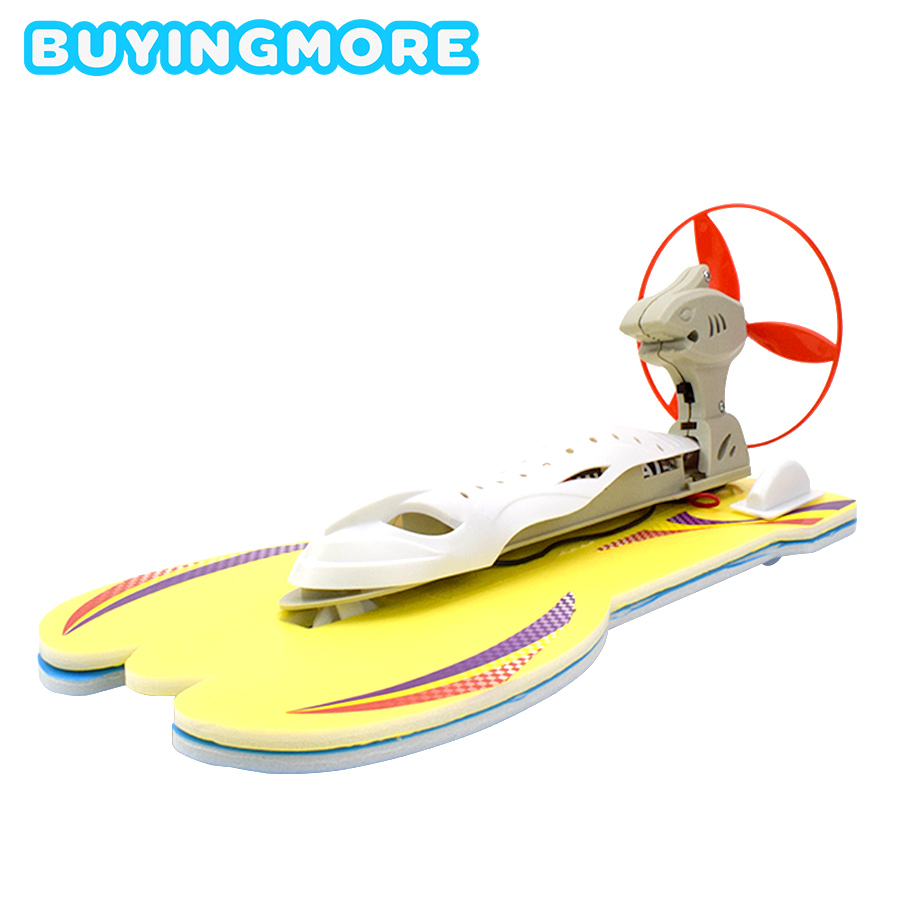 DIY Aerodynamic Speedboat Model Kits Electric Yacht Assembly Model Toy Physics Experiment Science Education Toys For Kids Gifts