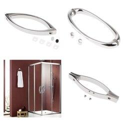 Zink-legierung Glas Tür Pull Griff Für Dusche Zimmer Bad Zubehör 145mm