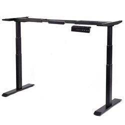 Marco de escritorio de Pie ajustable en altura eléctrico sistema de Motor Dual marco de acero sólido marco de construcción con gran capacidad de peso