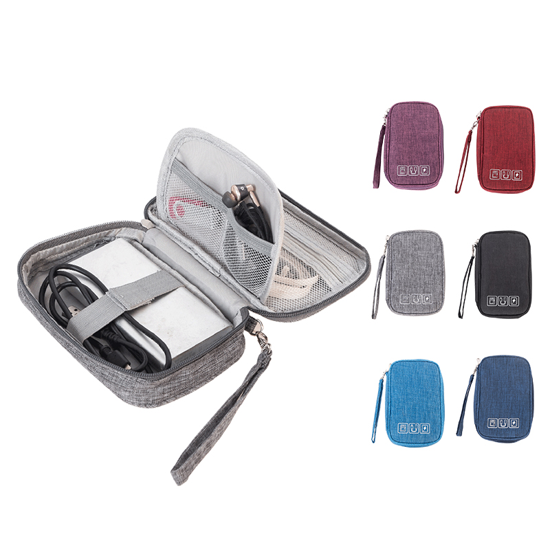 Men's Digital Cable Bag Suitcase Case Organizer Convenient Accessories Travel Portable Wires Charger Power Bank Zipper Bag  Item