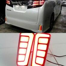 CSCSNL 1 Pair Reflector ALPHARD LED Rear Fog Lamp Bumper Light Auto Brake Light Turn Signal For Toyota Vellfire 2016 2017 2018