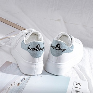 Image 3 - SWYIVY Spring Shoes Woman Platform Sneakers White 2020 New Female Casual Shoes On Chunky Heel White Shoes For Woman Sneaker