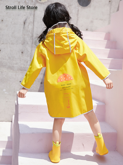 Long Rain Coat Women Boys and Girls Yellow Baby Raincoat Poncho Rain Jacket Windbreaker Waterproof Suit Impermeable Gift Ideas 2