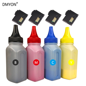 DMYON 4 Color Bottled Toner Powder Cartridge Chip Compatible For Xerox Phaser 6020 6022 Workcentre 6025 6027 Printer Refill 4 pack high quality toner cartridge for xerox phaser 6360 6360n 6360dn 6360dx 6360dt printer compatible 106r01221 20 19 18