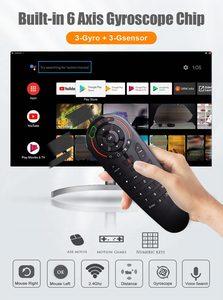 Image 5 - G30S ses uzaktan kumanda 2.4G kablosuz hava fare G30 33 keys IR öğrenme Gyro algılama için akıllı uzaktan Android TV kutusu oyun PC