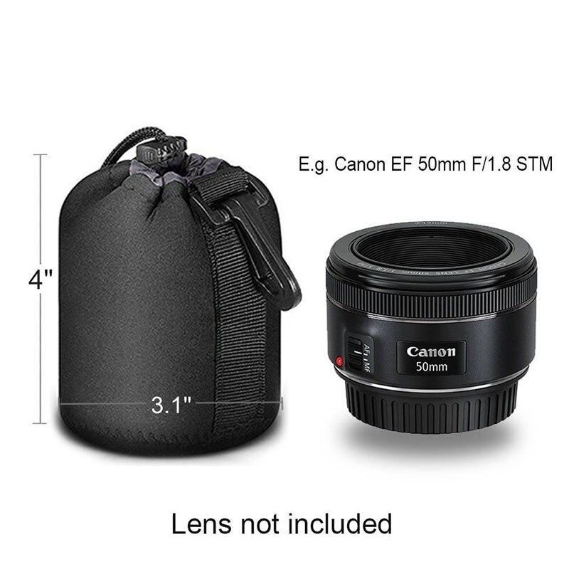 Neoprene Storage Bag Soft Protector For Canon//Nikon//Sony DSLR Black Waterproof