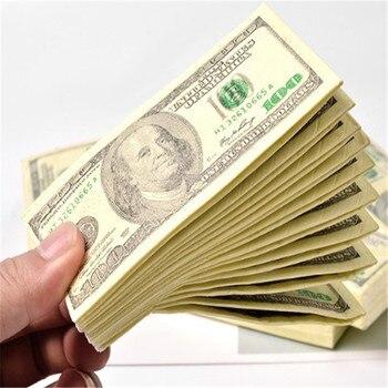100 $ dólares servilleta nuestro billete de dólar dinero toalla de papel fiesta difícil regalo 10pc pañales desechables decoración de cumpleaños de fiesta de boda
