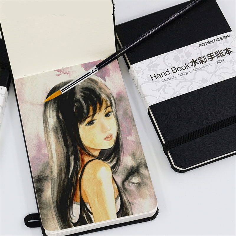 300gsm 24 Sheets Watercolor Pad Sketch Stationery Notebook For Drawing Marker