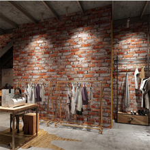 Vintage blue brick paper antique wallpaper 3D stereo clothing store restaurant bar decorative papier peint