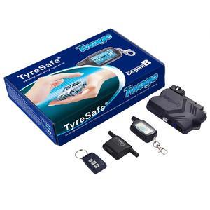 Двусторонняя Автомобильная сигнализация TYRESAFE B9, ЖК-дисплей, пульт дистанционного управления с запуском автомобиля, Противоугонная сигнали...