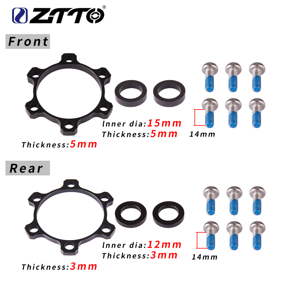 ZTTO Bicycle Boost Hub Adapter Change 12x142 to 148 15x100 to 110 110 148 Bike Hub Spacer Washer 6 Bolt standard Thru Axle 15mm(China)