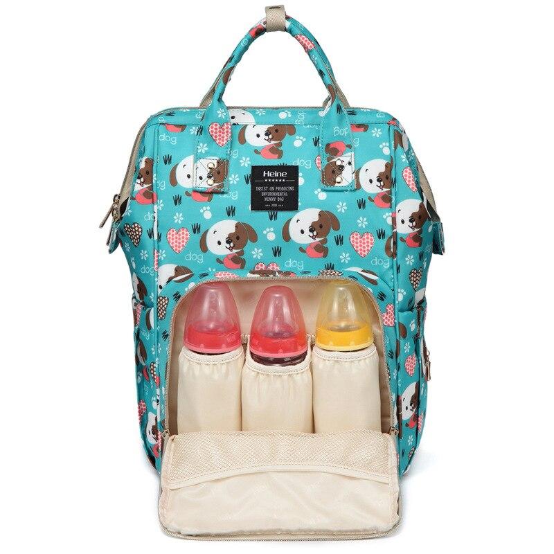 Fashion Printed Waterproof Diaper Bag Shoulder Korean-style Large-Volume Mommy Bag MOTHER'S Bag Baoma Nursing Backpack