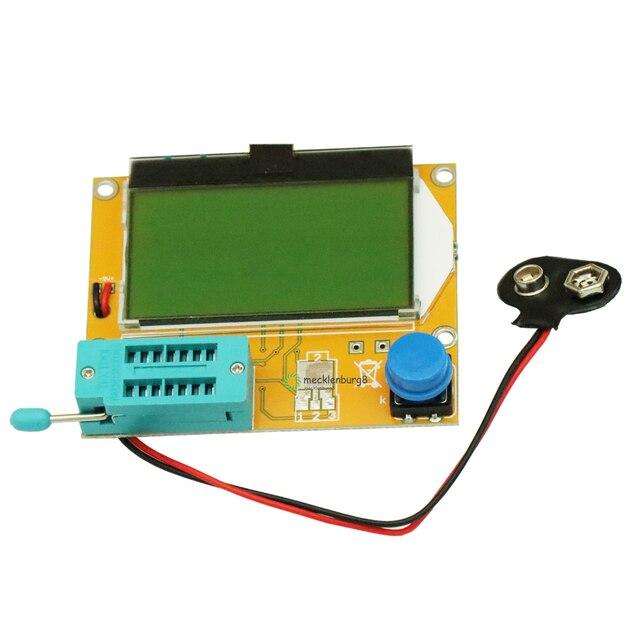 M328 LCR T4 Mega328 ESR מטר LCR LED טרנזיסטור בודק דיודות טריודה קיבוליות MOS PNP NPN 12864 תצוגת מודול