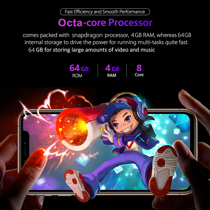 "Big Screen 6.5""Inch Dual SIM 16.0M Camera Android Smartphone Face ID Unlocked Mobile Cell Phone Google Play Free Earphone Gift"
