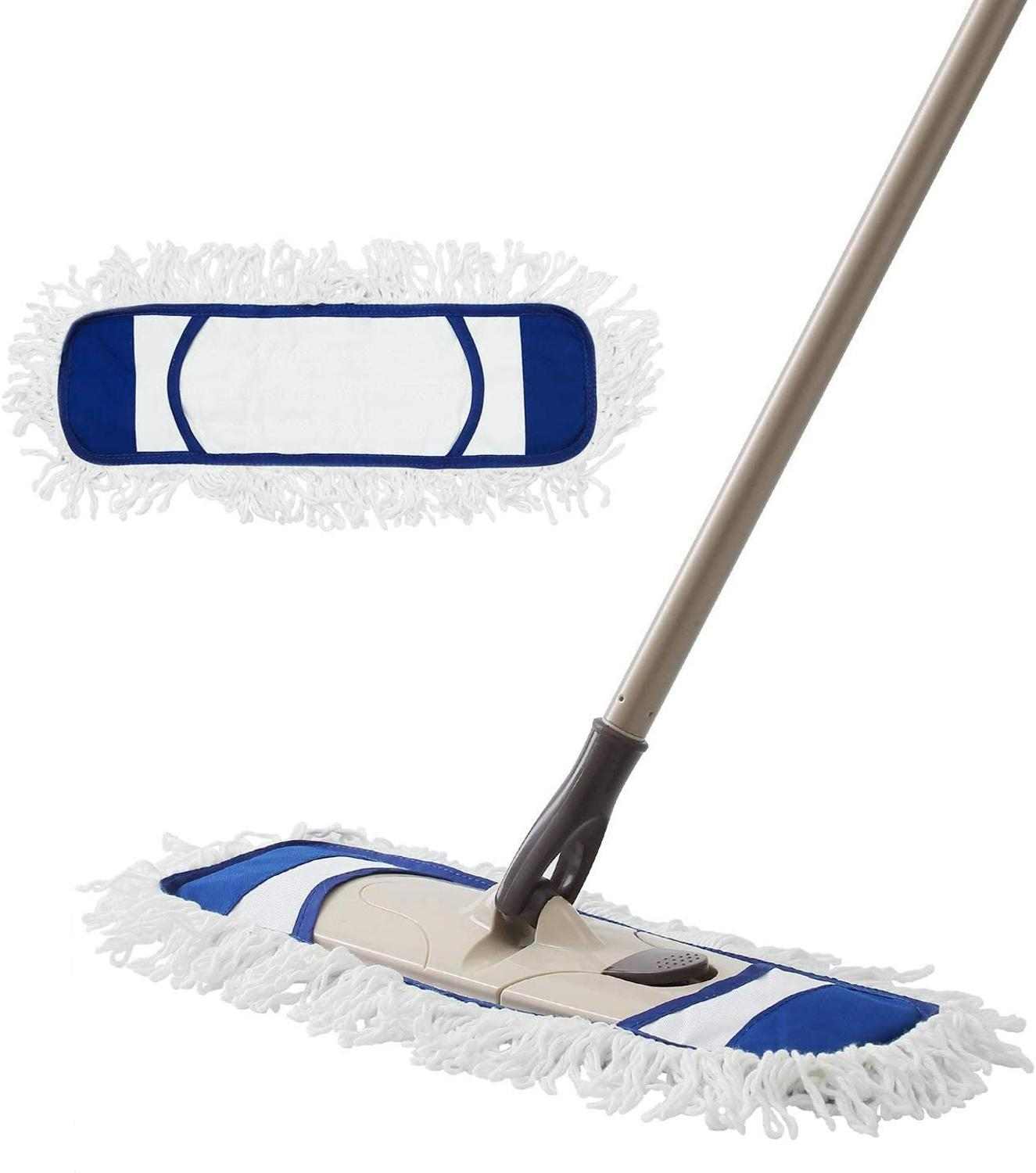Cleanhome Microfiber Mop With Extendable Adjustable Handle And 2 Washable Pads For Wet & Dry Floor Cleaning