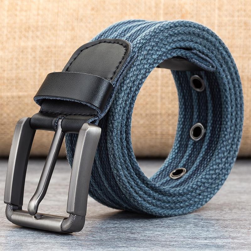 2019 Fashion Belt For Man Canvas Belt Striped Design Casual Men's Belts With Iron Buckle Tactical Belt For Jeans 110cm-160cm