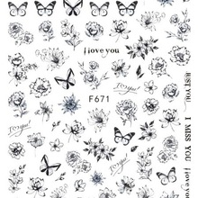Decals Stickers Manicure-Accessories Slider Flower Nail-Art-Decorations Nails Butterfly