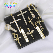 Juya DIY Religious Jewelry Components Supplies Luxury Saint Cross Charms Accessories For Prayer Christian Jesus Jewelry Making