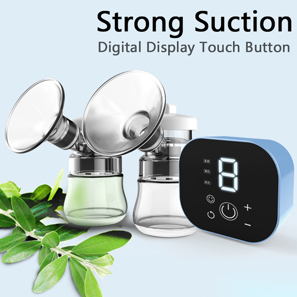 New Double Electric Breast Pump Powerful Intelligent Automatic Baby Breast Feeding Milk Extractor Accessories Anti-backflow Ma12