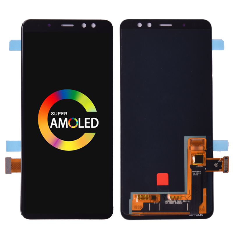 Super Amoled For <font><b>SAMSUNG</b></font> <font><b>GALAXY</b></font> <font><b>A8</b></font> 2018 A530 A530F <font><b>LCD</b></font> <font><b>Display</b></font> <font><b>Touch</b></font> <font><b>Screen</b></font> Digitizer Assembly <font><b>A8</b></font> 2018 Duos <font><b>lcd</b></font> A530F/DS image