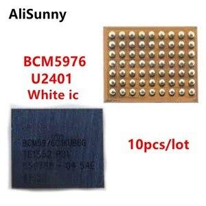 Image 1 - AliSunny 10 قطعة U2401 BCM5976 جهاز تحكم بالشاشة ic ل فون 6 و 6 زائد 6 P 6G الأبيض الميزون سائق اللمس ic رقاقة BCM5976C1KUB6G